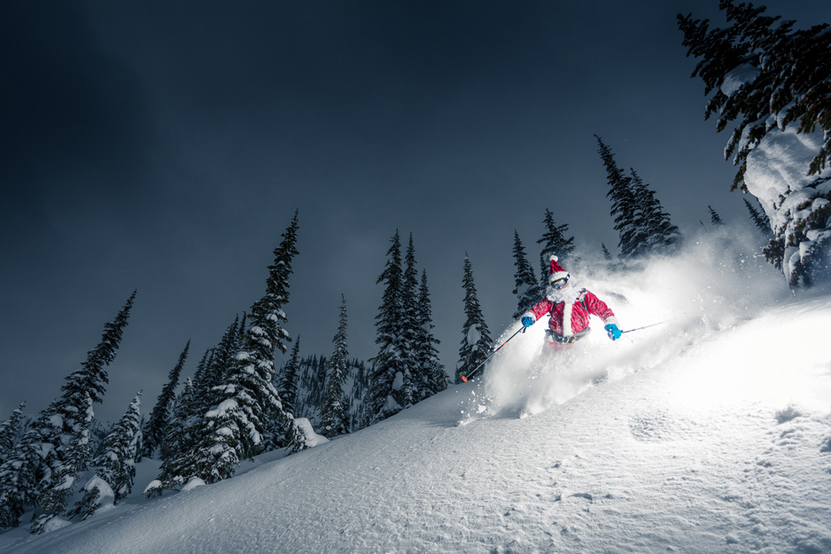 Santa Joined us for a Few Pow Laps at Valhalla Powdercats this Week!